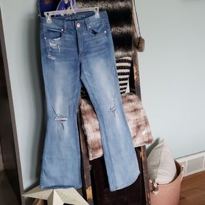 Ae mid rise flare jeans 6x31